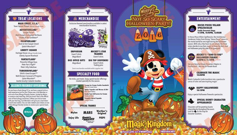 Details for Mickey's Not So Scary Halloween Party 2016 Schedule ...