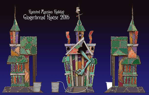 Haunted Mansion Holiday Foyer Music : Disneyland haunted mansion holiday gingerbread house