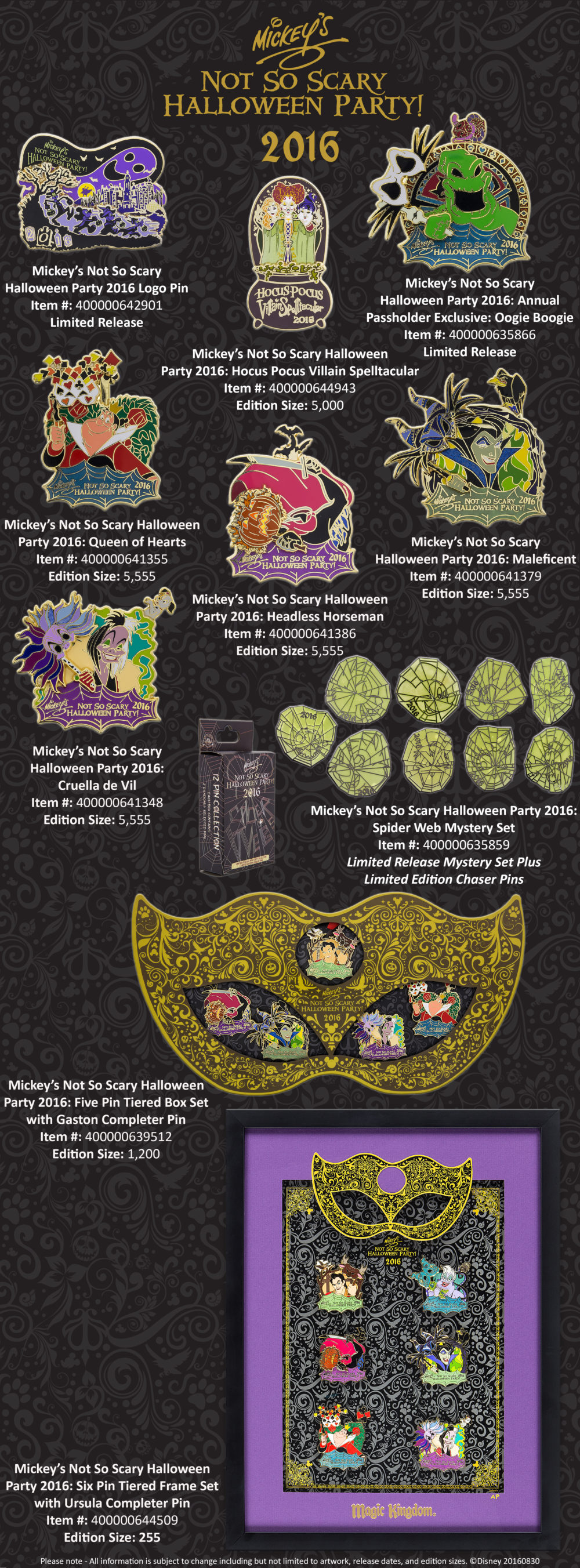 mickey's not so scary halloween party pins announced | | diskingdom