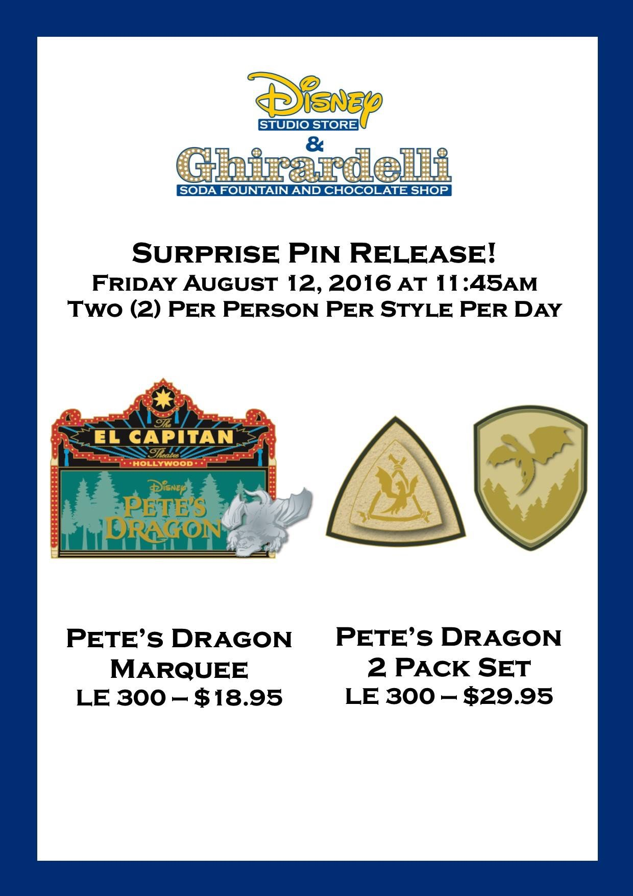 Pete's Dragon Surprise Pins Released