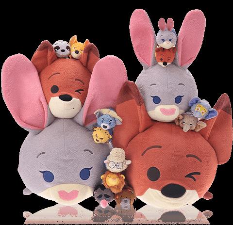 Medium & Large Zootopia Tsum Tsum Coming Soon To Disney Store Japan