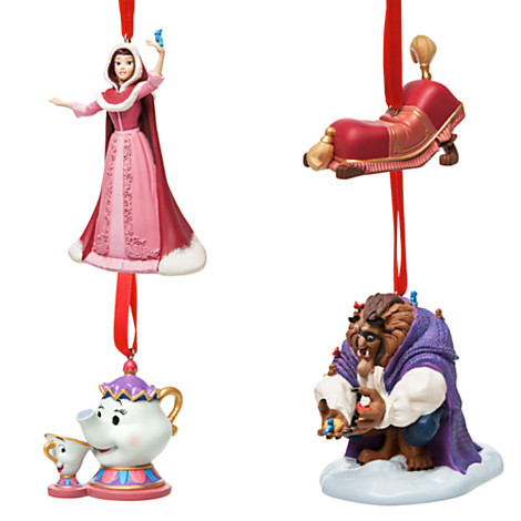 Beauty And The Beast Deluxe Sketchbook Ornament Set Out