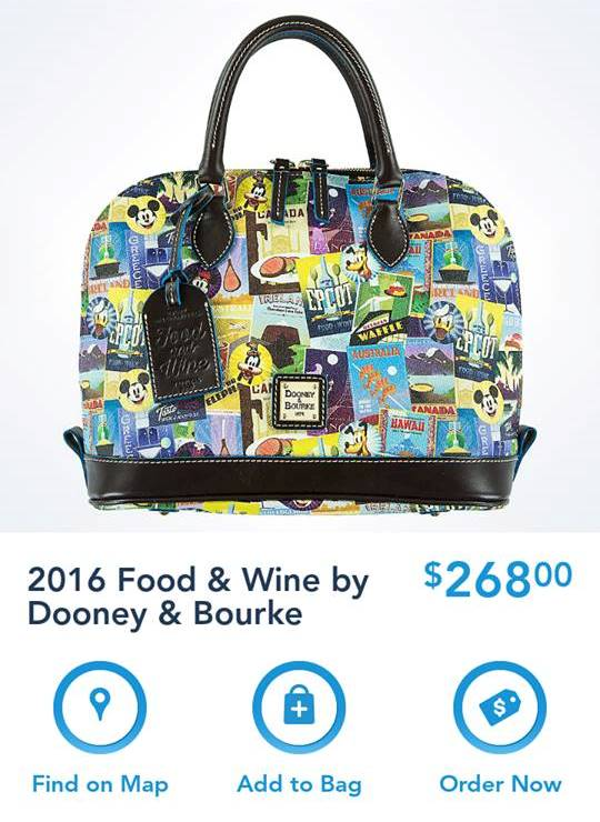 New WDW Food & Wine Dooney & Bourke Bags Available on the Shop Disney Parks App!!!