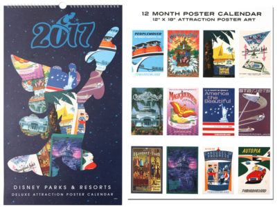 Disney Parks And Resorts Attraction Poster 2017 Calendar
