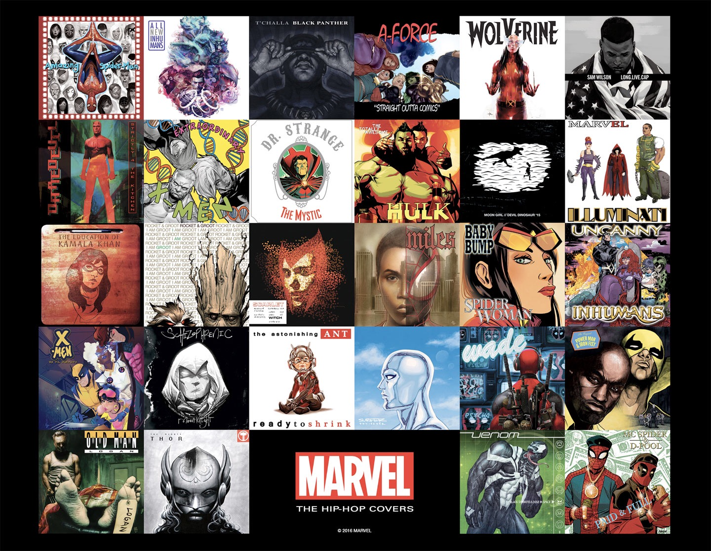 Marvel Beings Top Artistic Talent To NYCC For Hip-Hop Covers