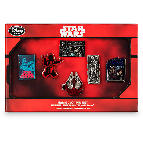 Limited Edition Star Wars Han Solo Pin Box Set Out Now