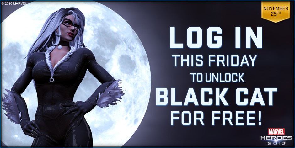 Holiday Big 10 Event & Free Black Cat Coming To Marvel Heroes 2016 For Thanksgiving