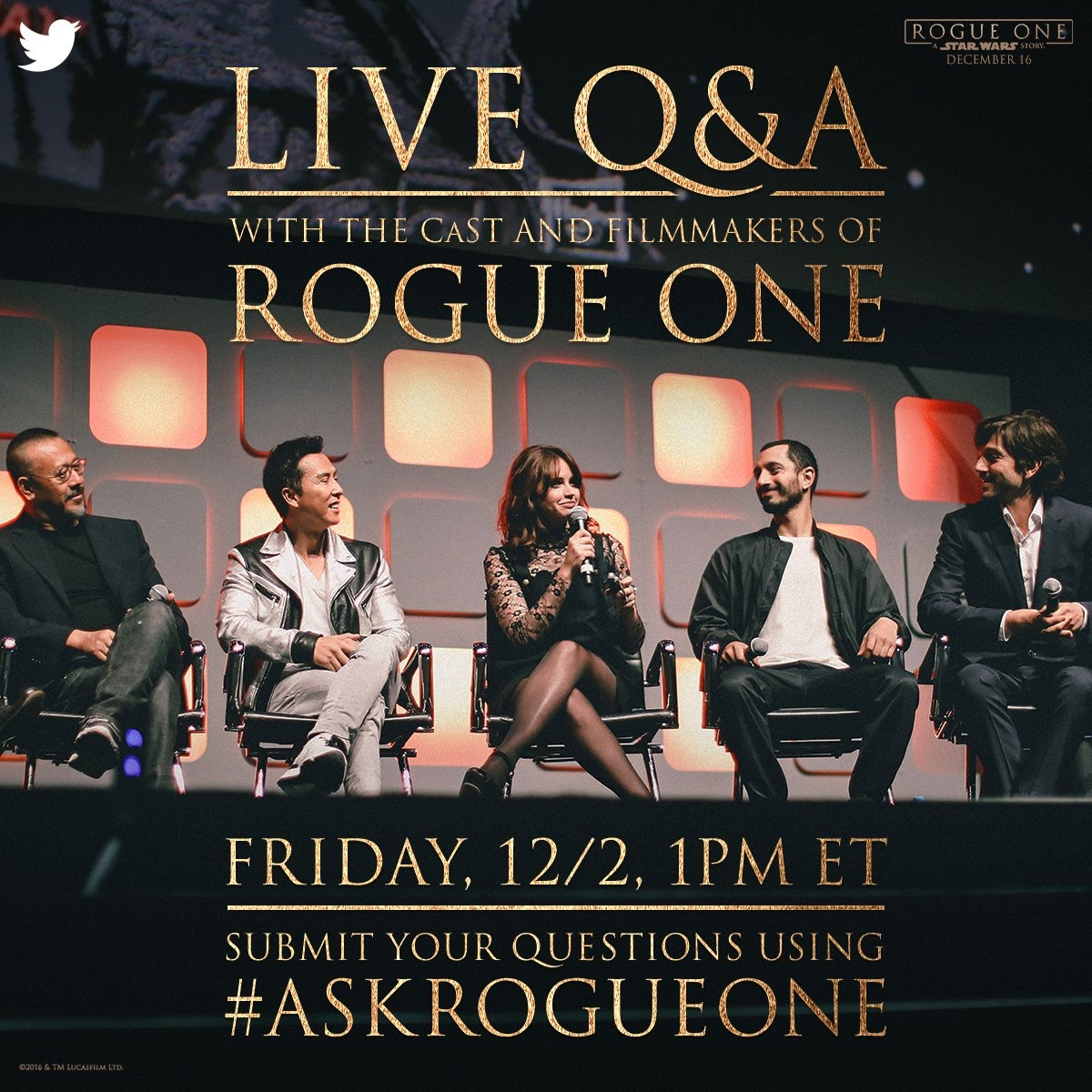 Twitter Announces Live Streaming Event with Disney & People for Rogue One
