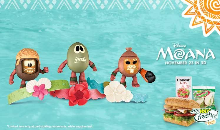 Subway Offering Moana Toys In Kids Meals Diskingdom Com Disney