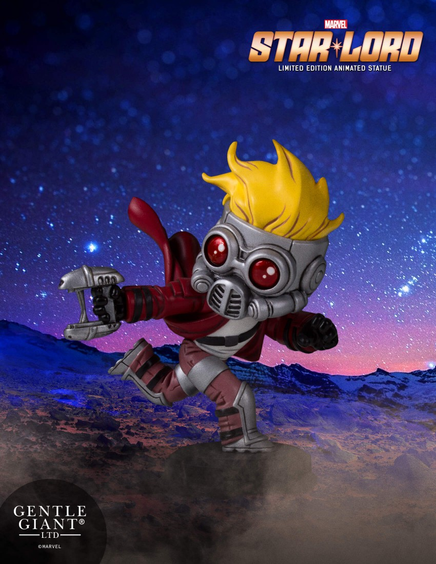 Guardians Of The Galaxy Star-Lord Animated Statue Coming Soon