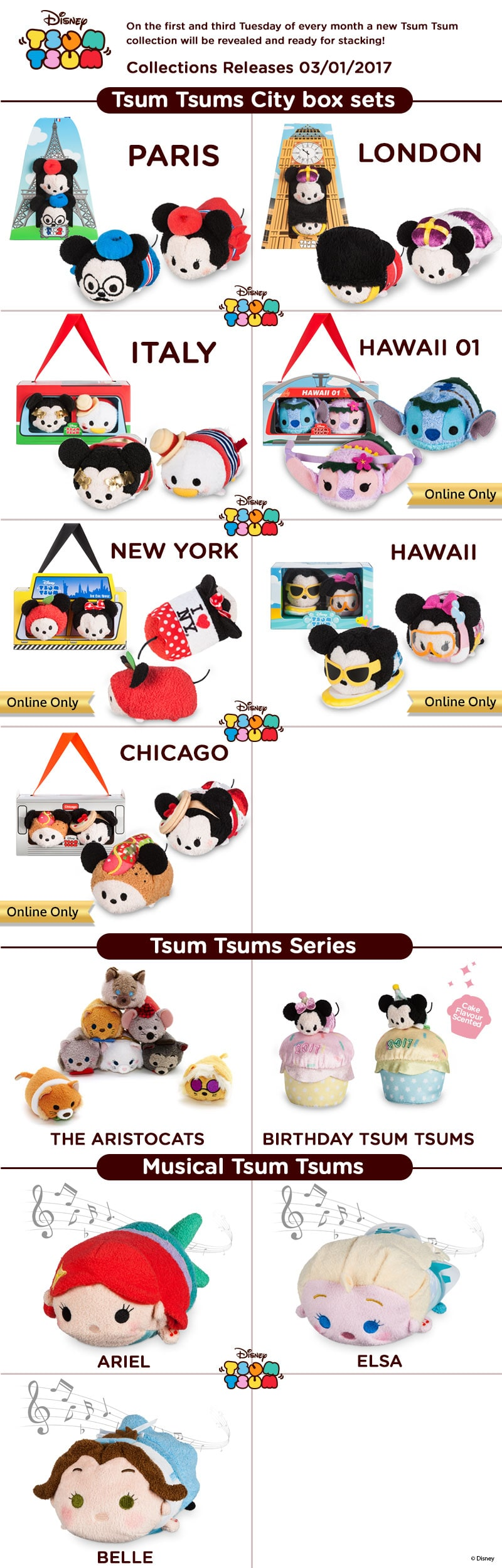 Tsum Tsum City Box, Birthday & Musical Sets Coming Soon