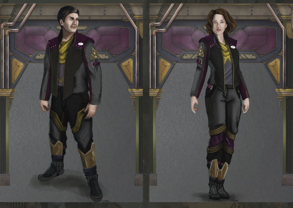 Concept Art for Cast Member Costumes for Guardians of the Galaxy: Mission Breakout