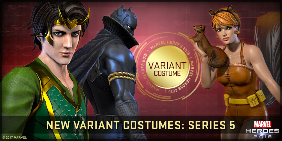 Marvel Heroes 2016 Variant Series 5 Costumes Available Now