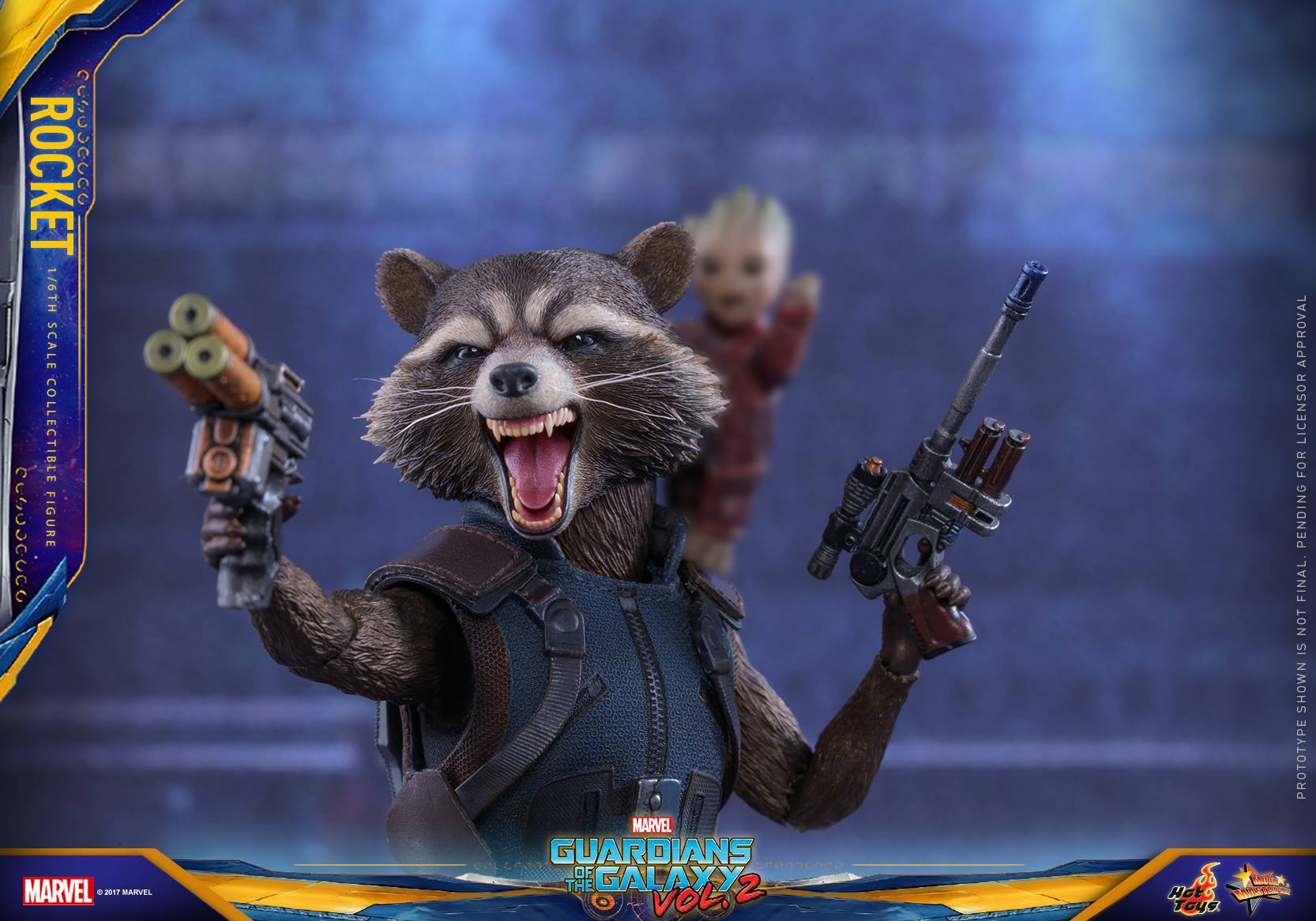 GOTG Vol. 2 – 1/6th Scale Rocket Collectible Figure Coming Soon