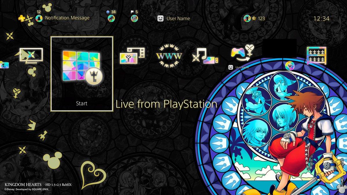 Kingdom Hearts 1 5 2 5 Remix Ps4 Theme Digital Exclusive