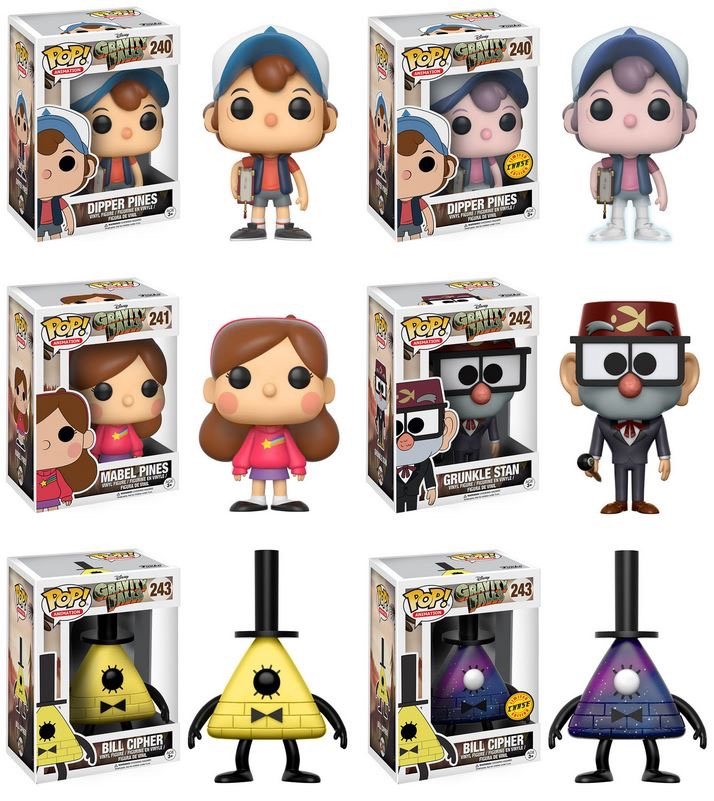 Gravity Falls Preorder Info Reveals Two Pop Vinyl Chases!