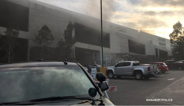 BREAKING: Multi Car Fire at Disneyland Parking Structure