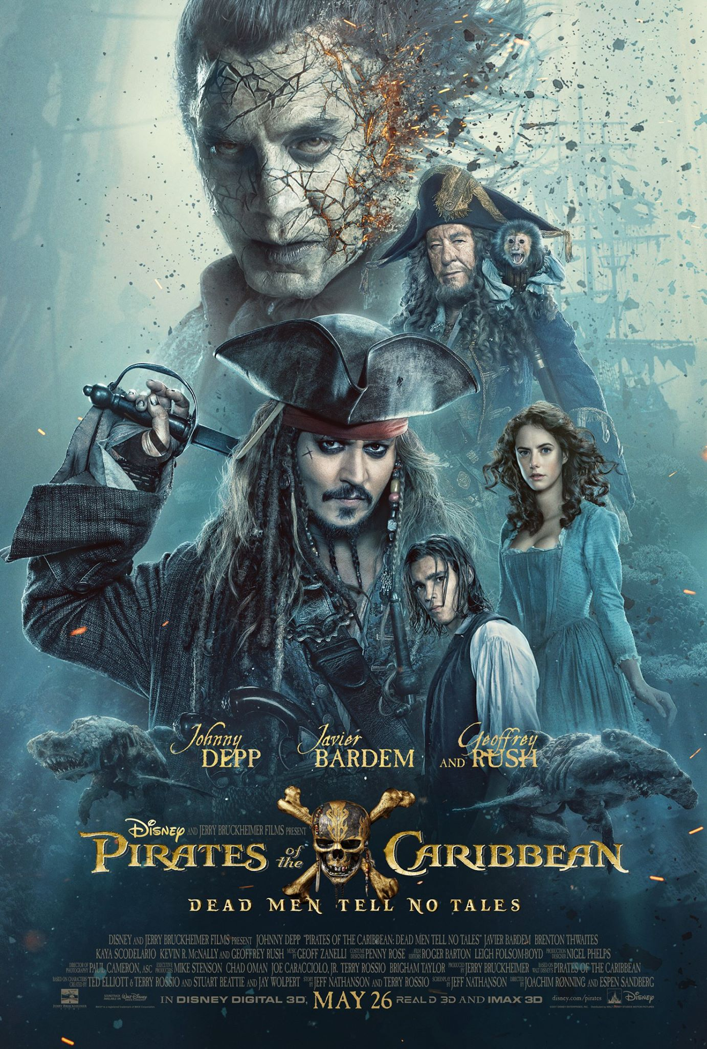 Pirates Of The Caribbean: Dead Men Tell No Tales Poster Released