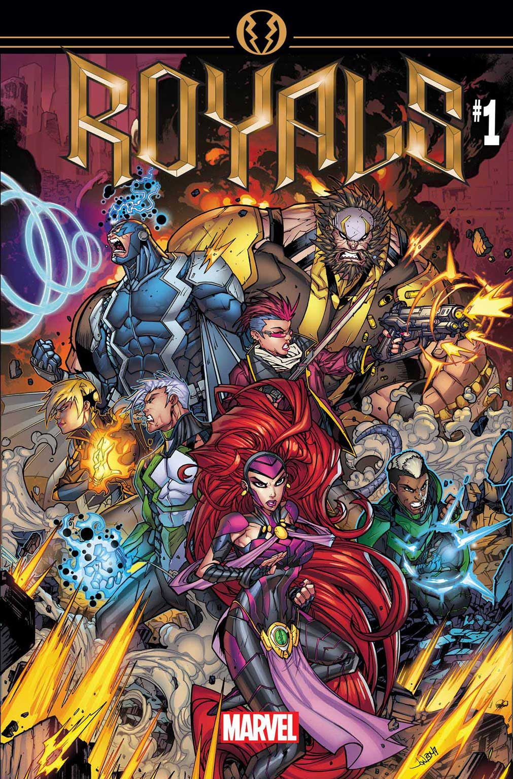 The Inhumans Take To The Stars – Your First Look at ROYALS #1!