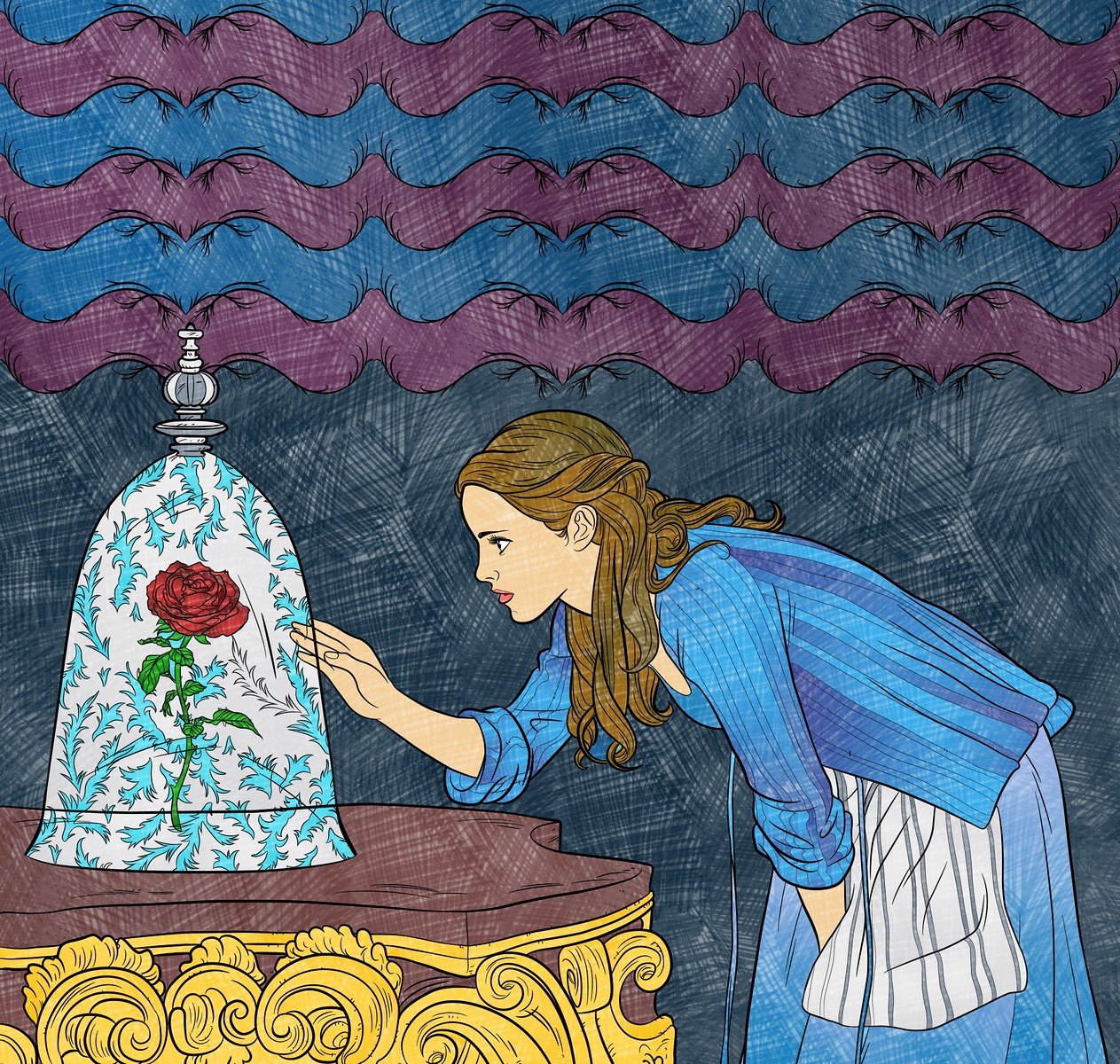 Color By Disney February 19 New Beauty And The Beast Coloring Pages Invite Artists To Bring Enchanted Tale Life