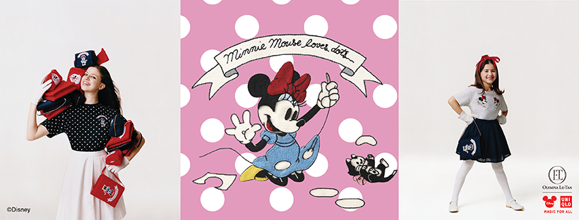 New Minnie Mouse Loves Dots Collection Online at UNIQLO!!!