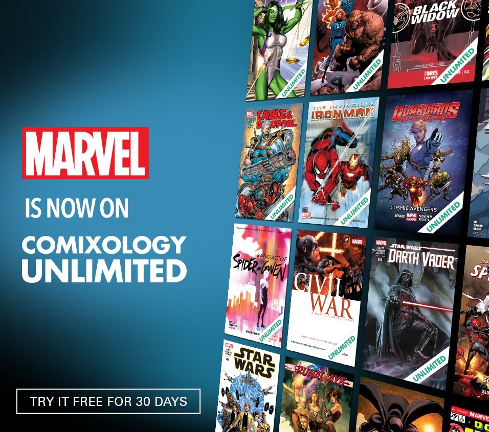 Marvel Is Now Part Of ComiXology Unlimited