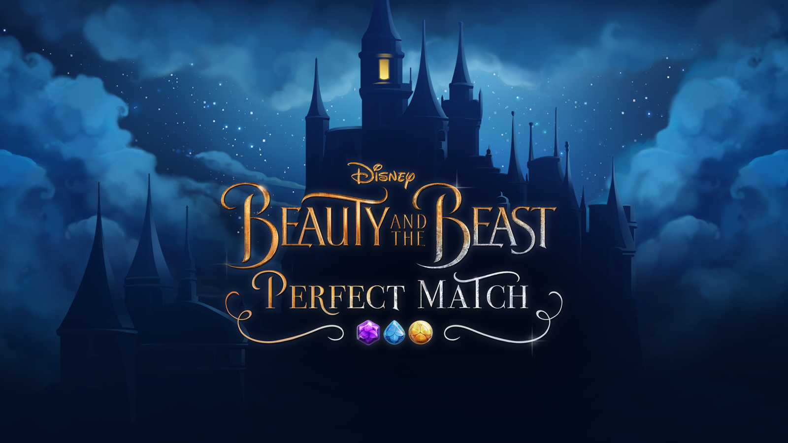 Beauty And The Beast Perfect Match Available Now For Mobile Devices Diskingdom Com Disney Marvel Star Wars Merchandise News