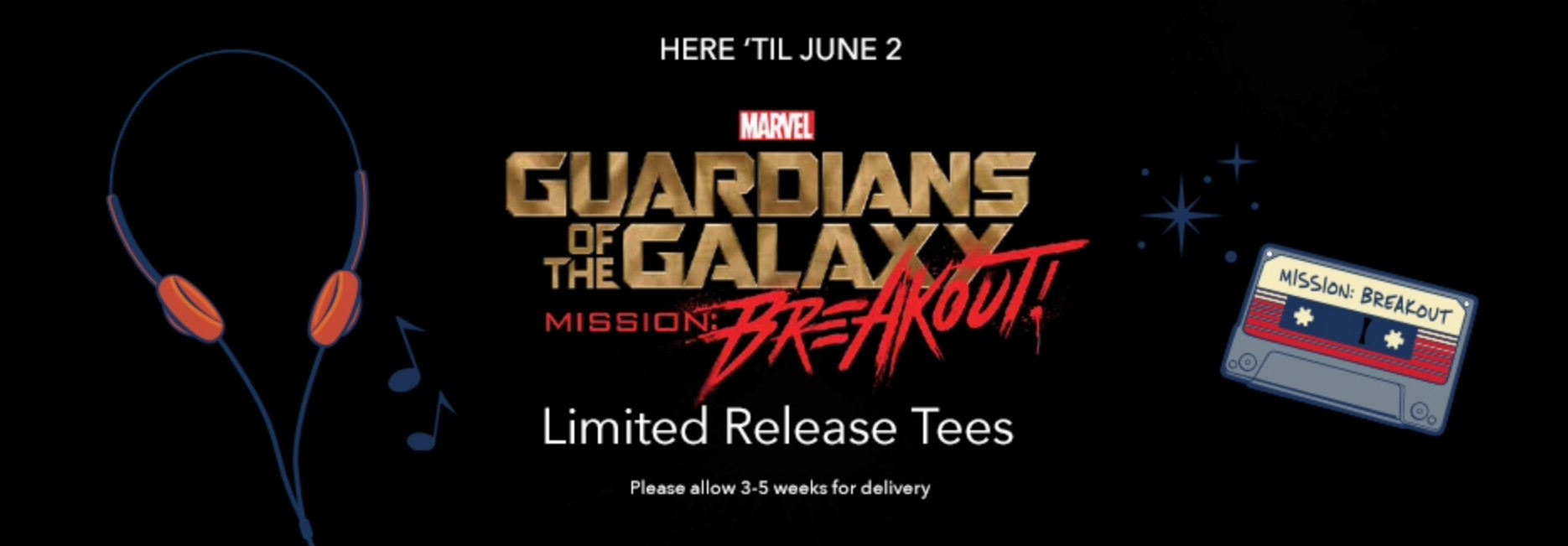 Two Guardians Of The Galaxy: Mission Breakout T-Shirts Released