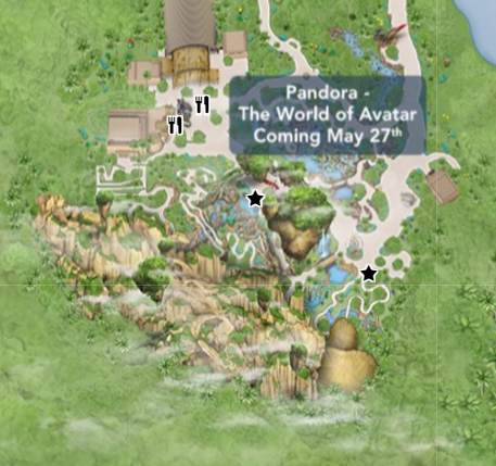 Disney World Maps Updated to Add Pandora: World of Avatar