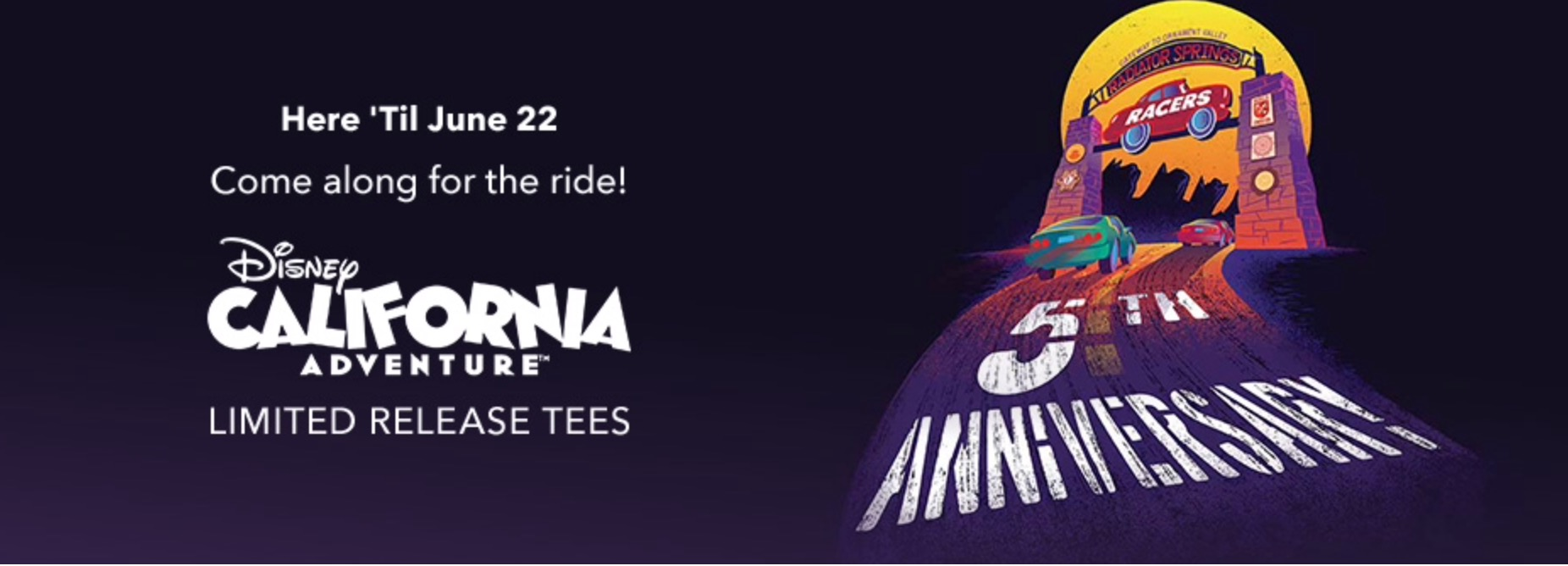 California Adventure Limited Release T-Shirts Out Now