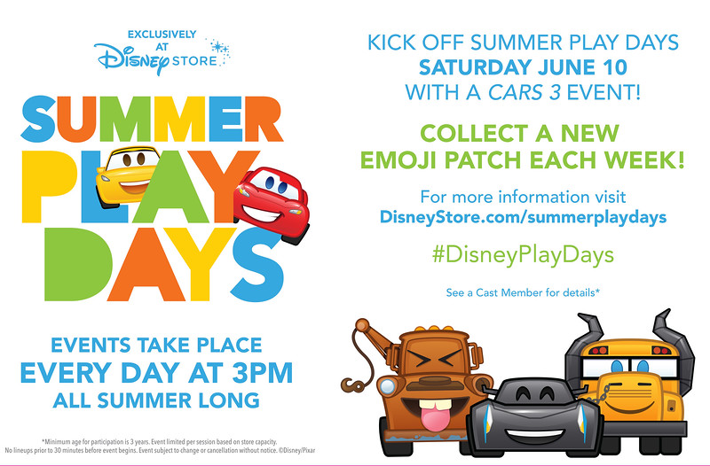 Disney Store Revs Up for Summer Play Days