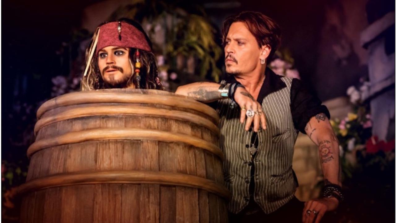 Johnny Depp Meet's The New Captain Jack Sparrow Animatronic In Disneyland Paris
