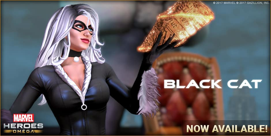 Black Cat Out Now For Marvel Heroes Omega