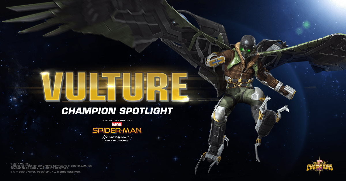 Vulture Joins Marvel Contest Of Champions