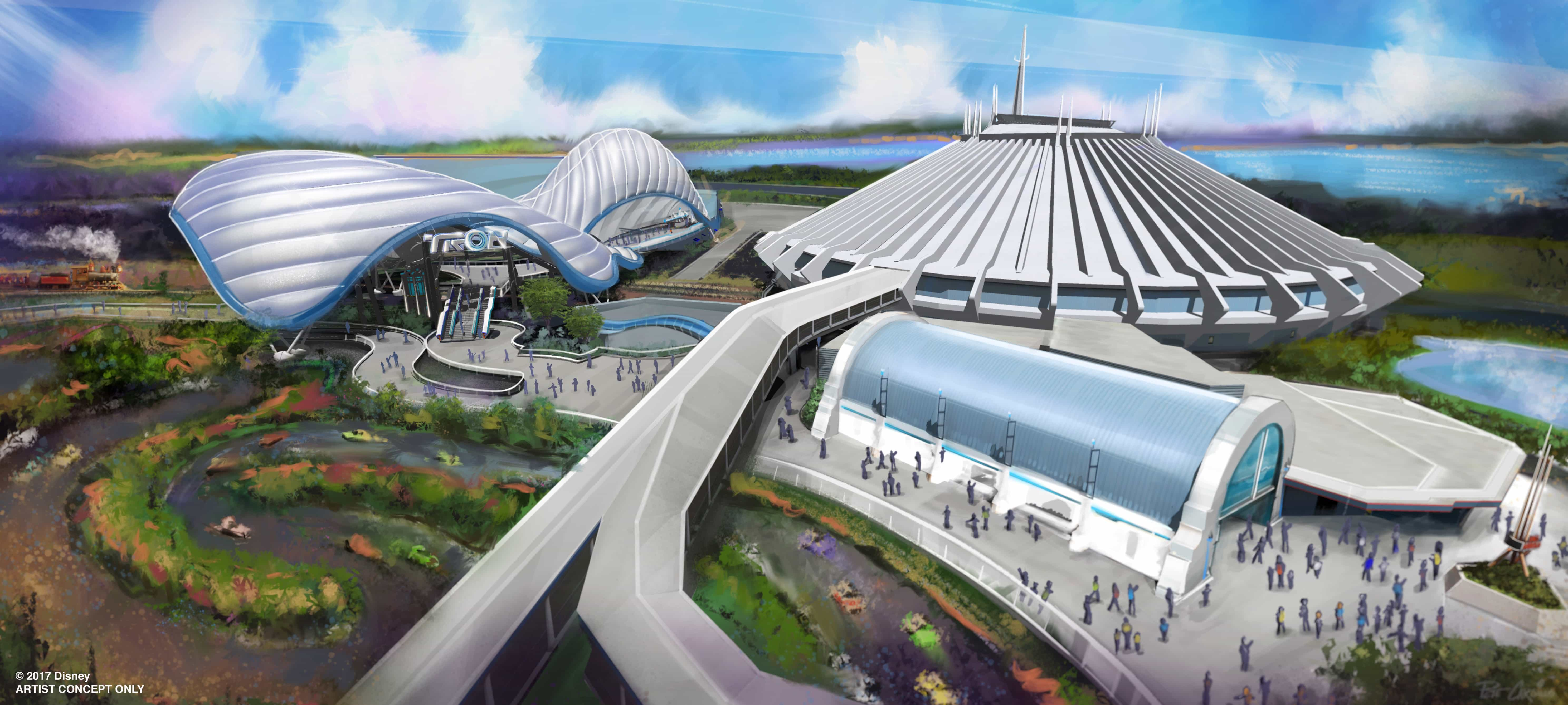 Tron Coaster Coming to Tomorrowland in Magic Kingdom
