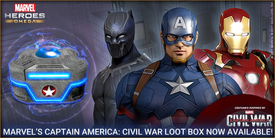 Marvel Heroes Omega Adds New Captain America: Civil War Loot Box