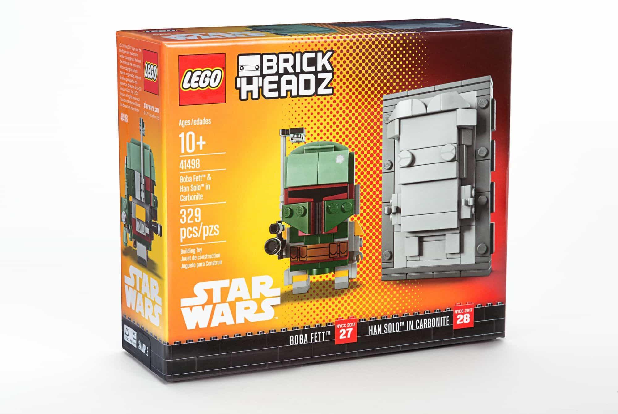 LEGO Star Wars Boba Fett & Han Solo In Carbonite BrickHeadz NYCC ...