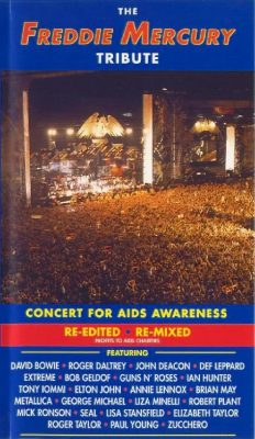 Cover of a VHS tape, showing a concert