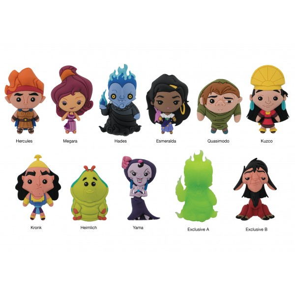 Disney Series 15 3 D Figural Key Chains Coming Soon