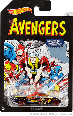 Classic Avengers Comic Covers Hot Wheels Coming Walmart Marvel 2018