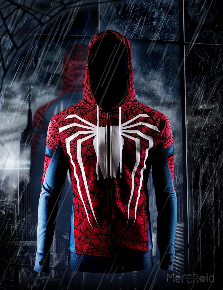 Spider Man White Spider Premium Hoodie Revealed