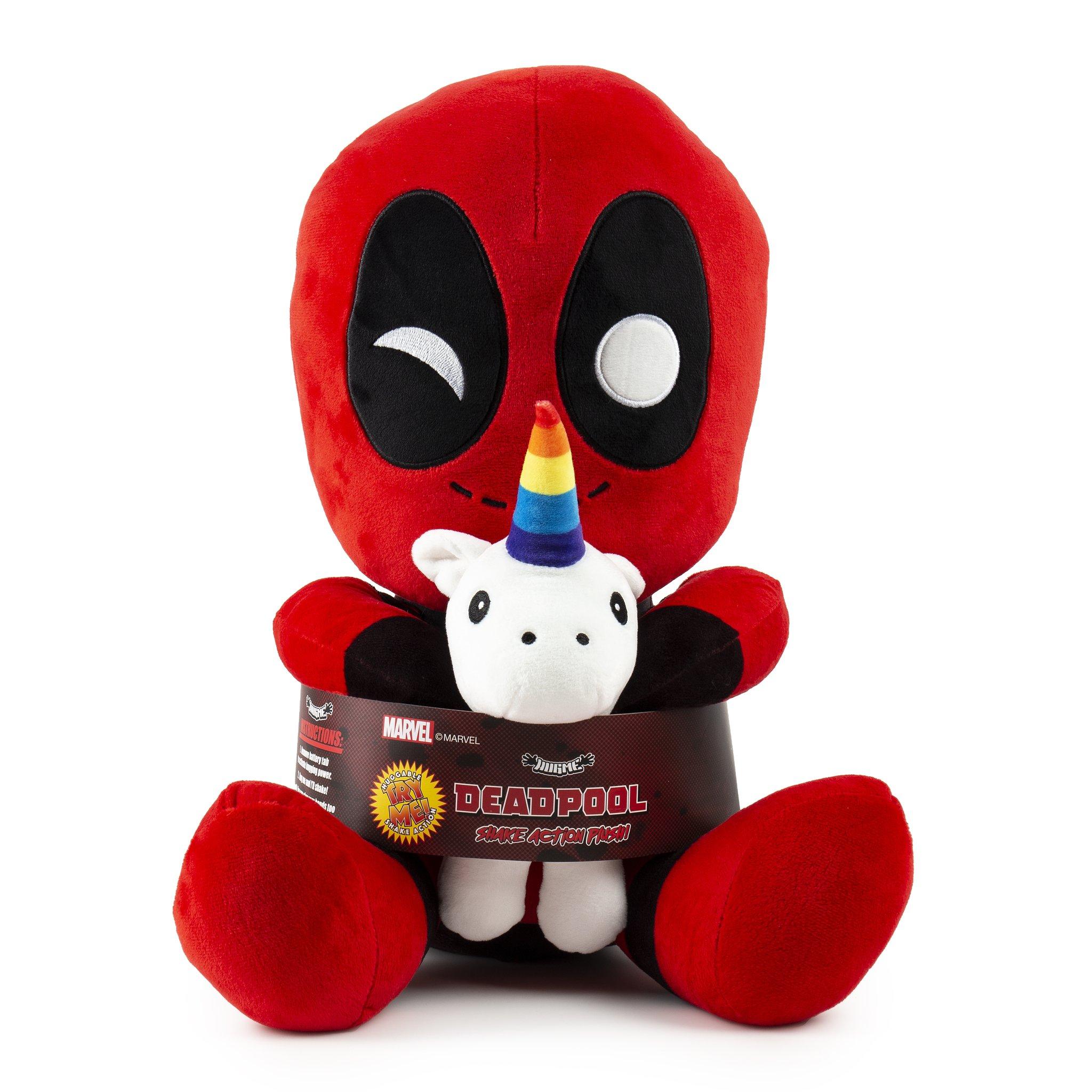 Marvel Deadpool Riding A Unicorn KidRobot HugMe Vibrating