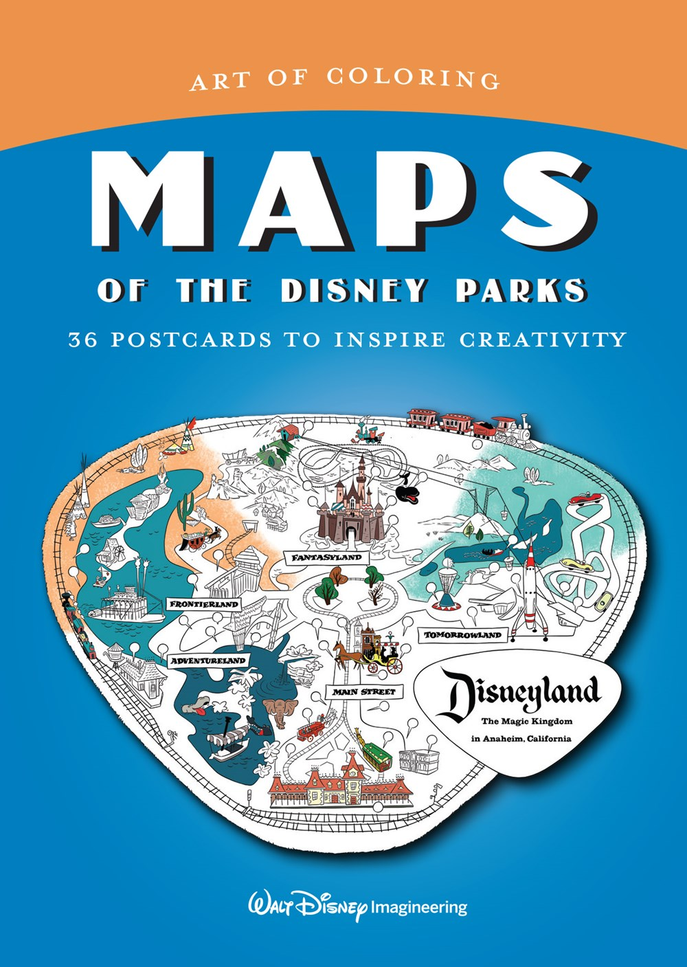 - Art Of Coloring: Maps Of The Disney Parks: 36 Postcards To Inspire