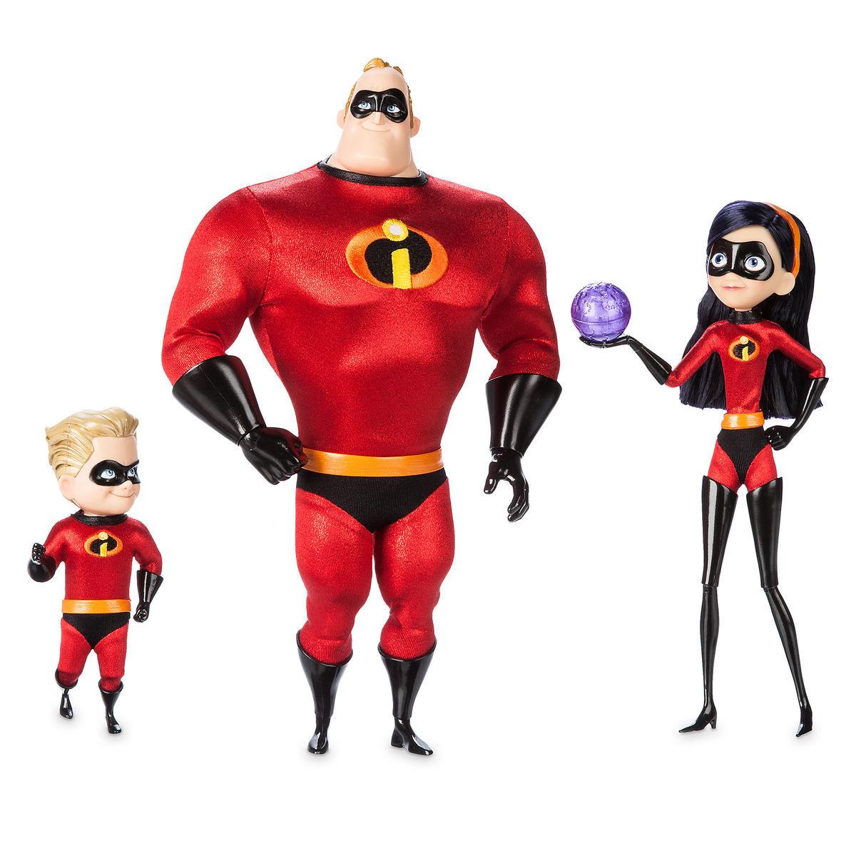 Mr Incredible Violet And Dash Designer Doll Set Out Now Diskingdom Com Disney Marvel Star Wars Merchandise News