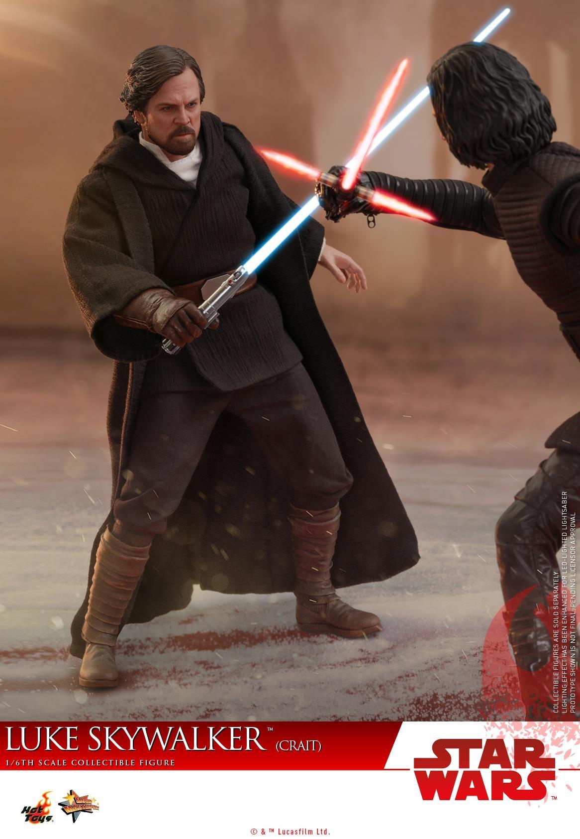 Star Wars The Last Jedi Luke Skywalker Crait Hot Toys