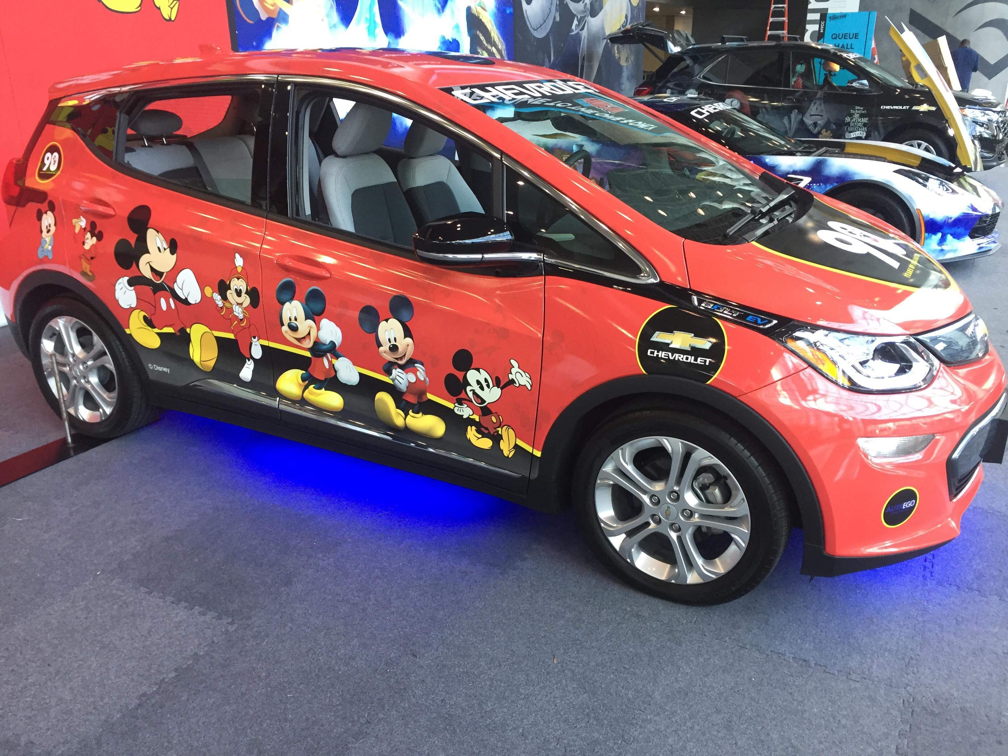 Disney Themed Chevrolet Cars On Display At NYCC