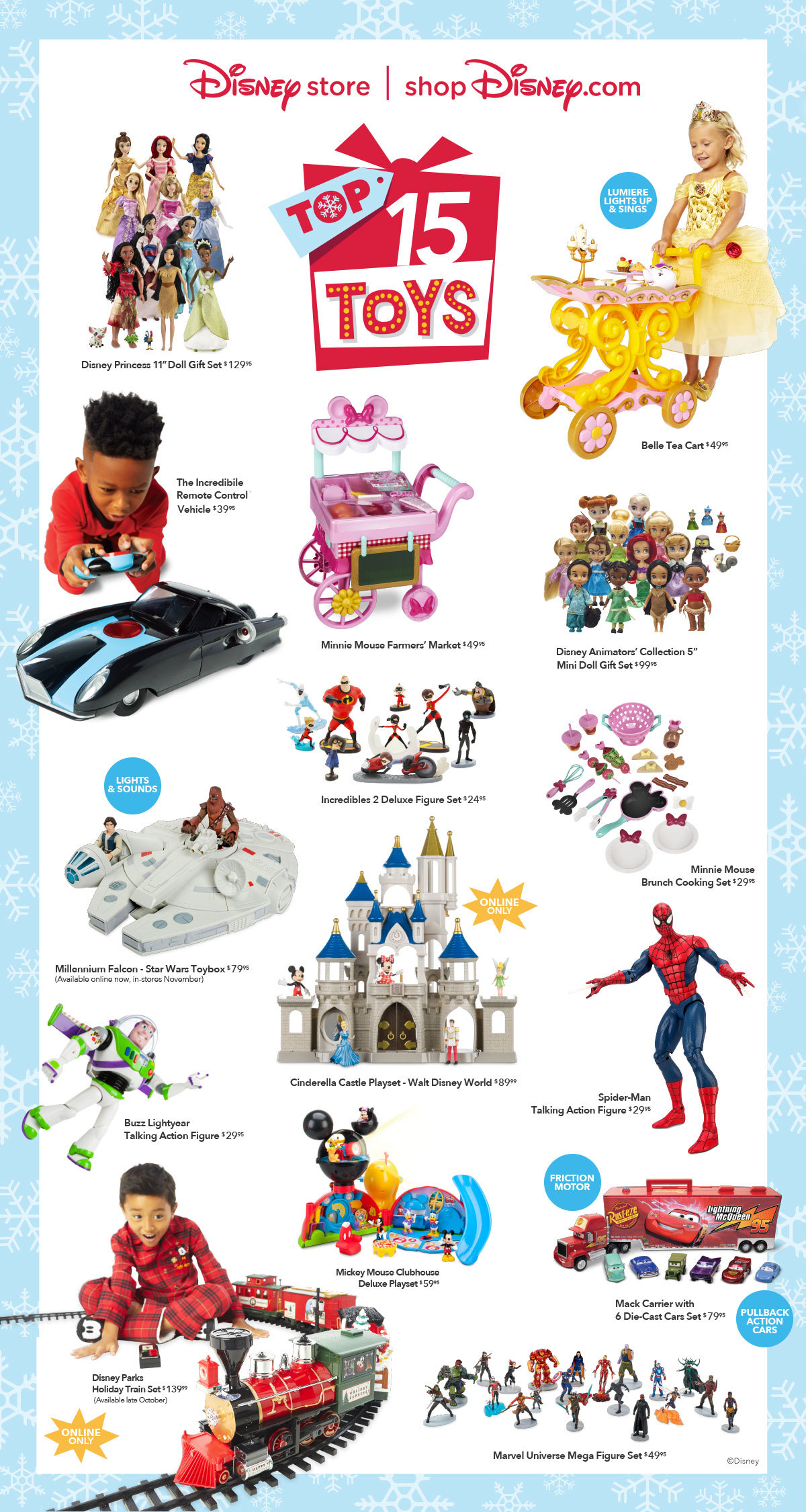 15and Up Toys For Everyone : Disney reveal the quot top holiday toys for