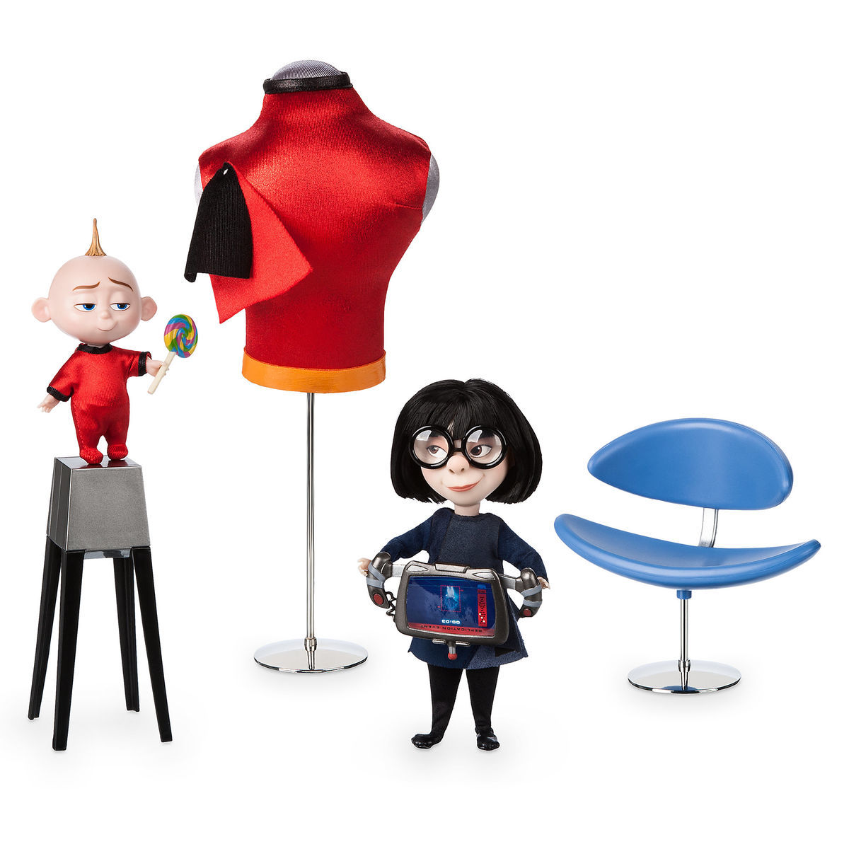 Incredibles 2 Edna Mode And Jack Jack Disney Designer Collection Doll Set Out Now Diskingdom Com Disney Marvel Star Wars Merchandise News