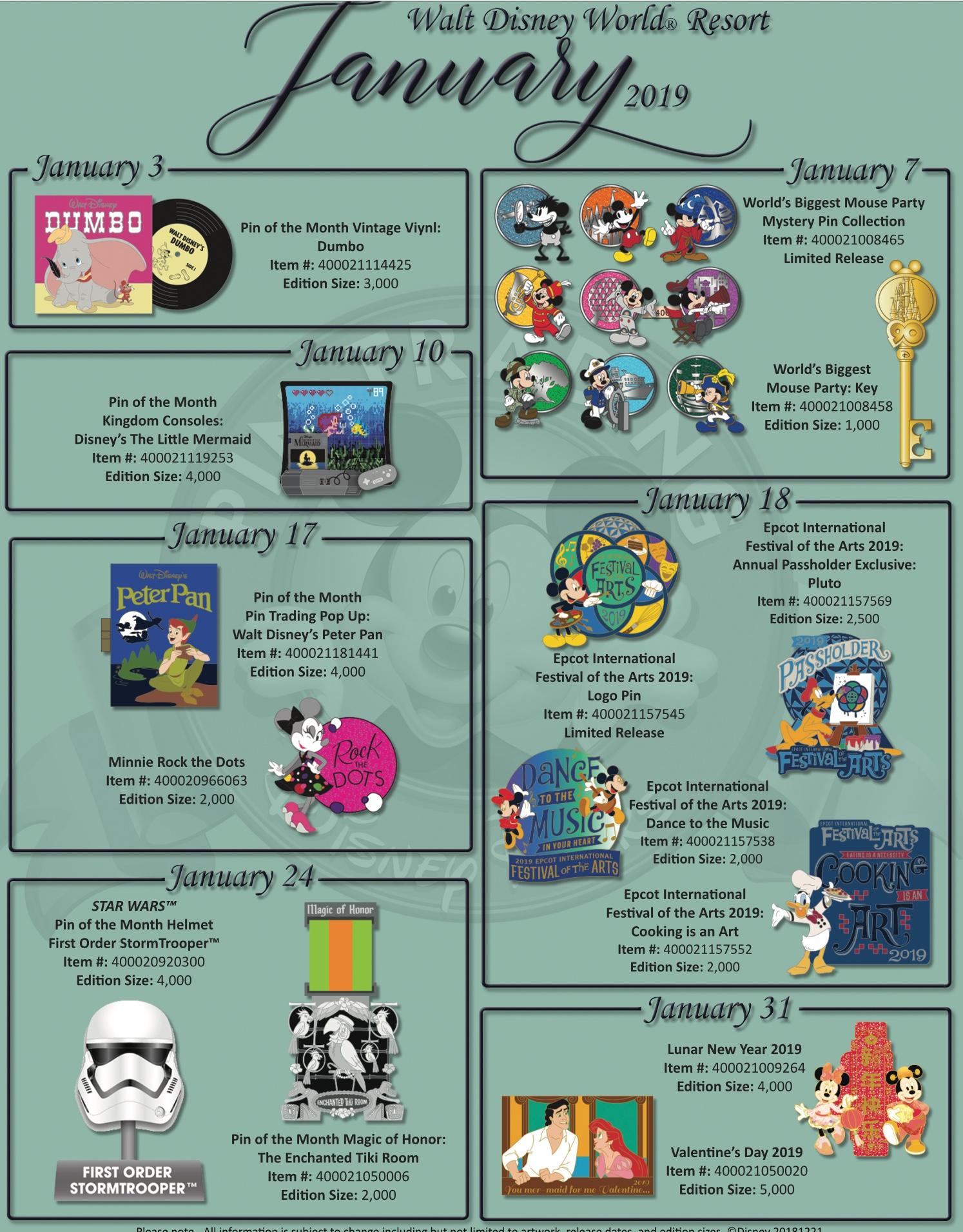 Walt Disney World January Pins Announced Diskingdom Com Disney Marvel Star Wars
