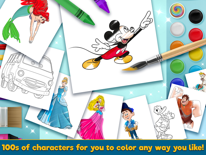 Touch Press Launches Disney Coloring World For Android Ios